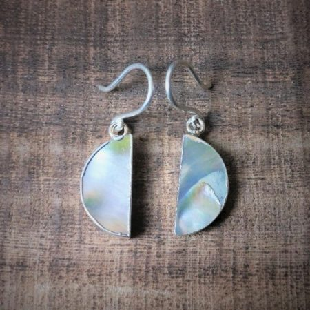 Silver 925 pearl moon earrings