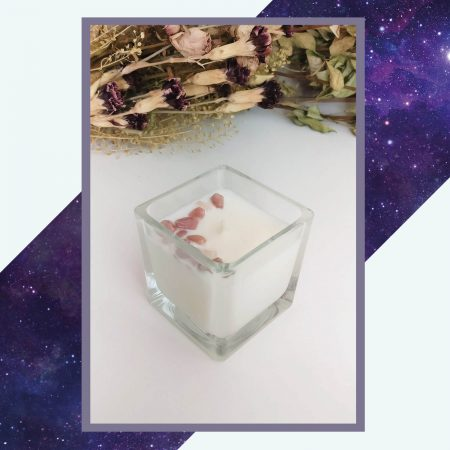 Strawberry Champagne candle S square