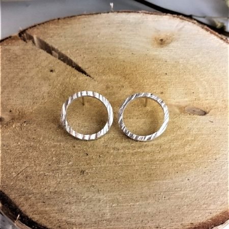 Sterling silver (925) circle earrings